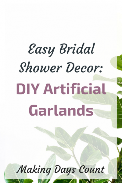 DIY Garlands for Bridal Shower or Wedding