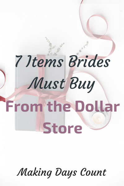 7 Wedding Items You can Get from the Dollar Store