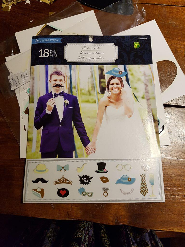 Dollar Store Wedding Photobooth Props