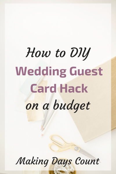 Last Minute Wedding Card Hack