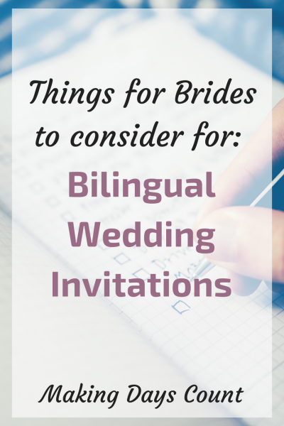 Tips for Bilingual Invitations