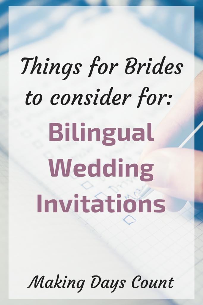 Bilingual Wedding Invitations
