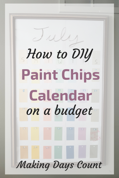 DIY Paint Chips Calendar