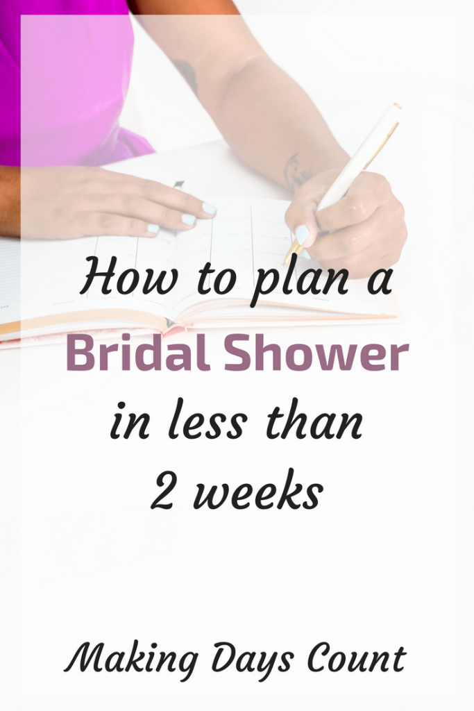 MDC Plan Bridal Shower