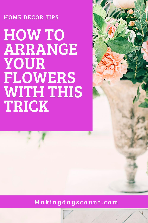 Arranging flowers hack