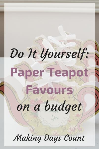 DIY: Paper Teapot Favours