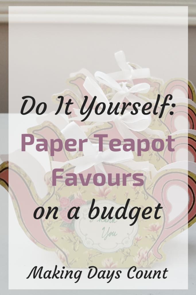 DIY Paper Teapot Favours
