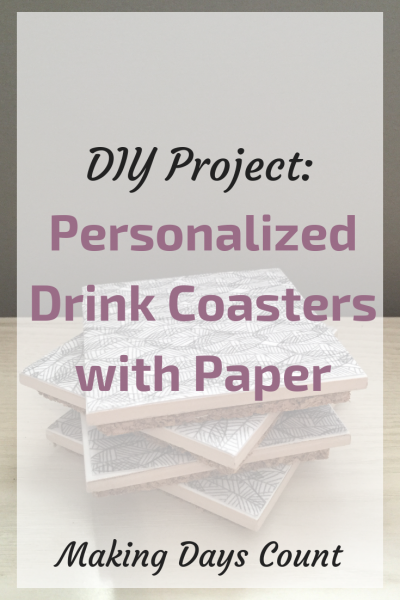 DIY Tile + Paper Drink Coaster