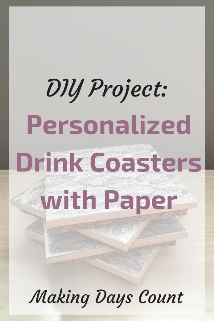 DIY Tile Drink Coasters