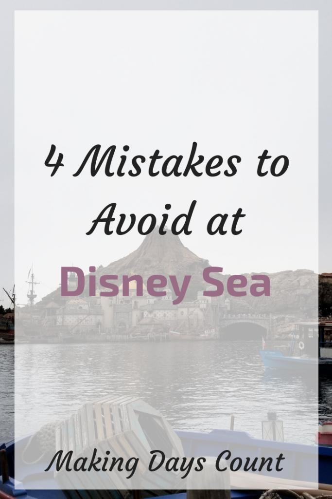Mistakes to avoid at Disney Sea