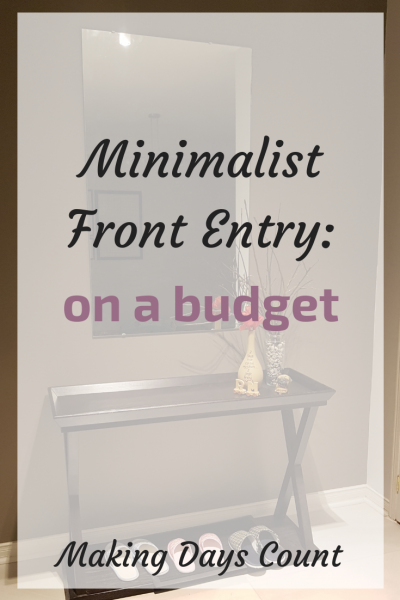 Minimalist Front Entry for under $40