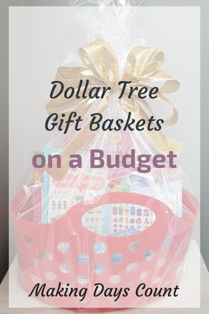 Pinterest - MDC - Dollar Tree Gift Baskets
