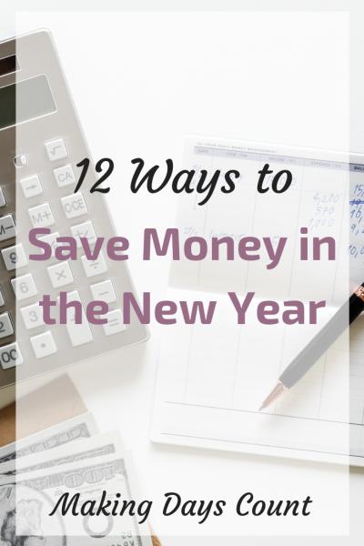 12 Ways to save money this year