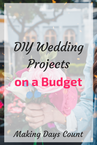 Budget DIY Wedding Projects I did for my wedding