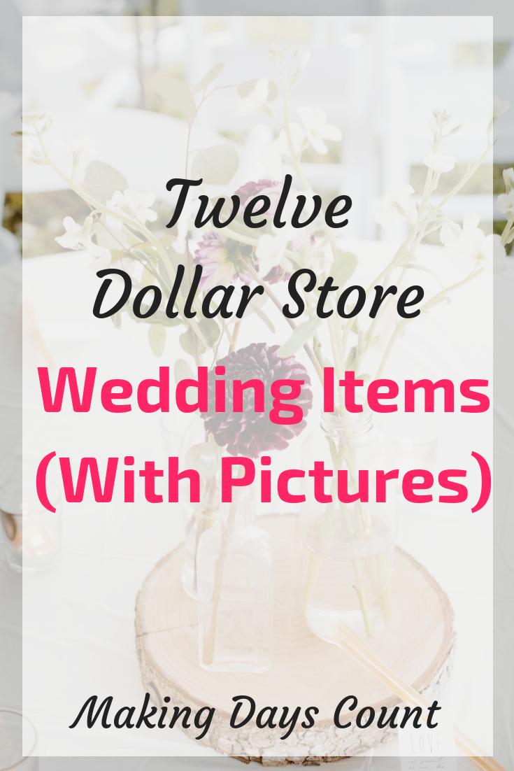 12 Dollar Store Wedding Items