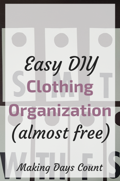 Easy DIY Clothing Organization Label
