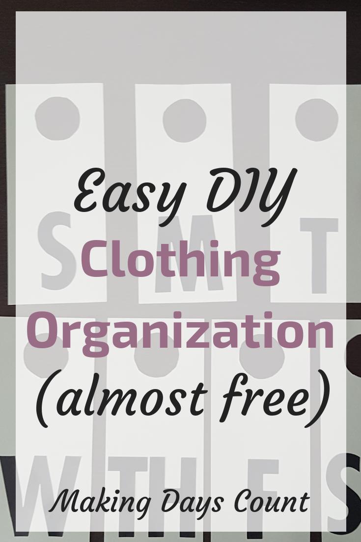 DIY Clothing Organization Label