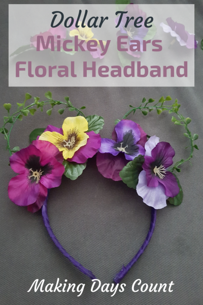 DIY Mickey Ears Headband: Floral Edition