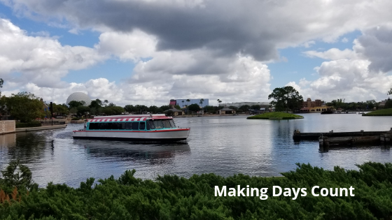 You can travel around Epcot by boat