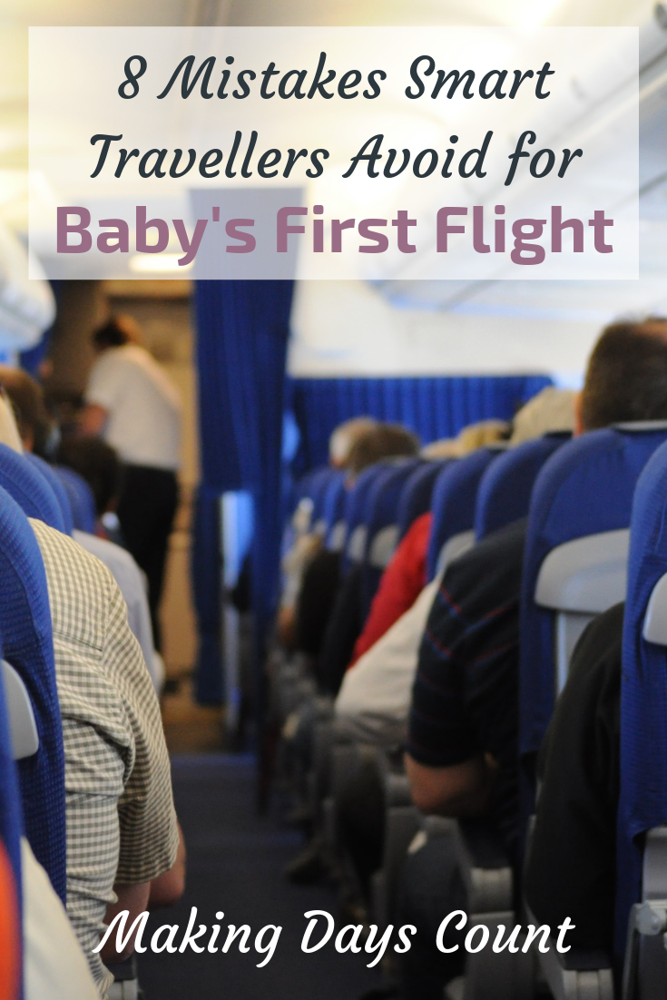 Pin this: Baby's First Flight