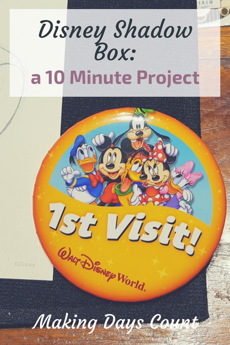 Pin this: Disney Shadow box
