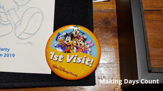 First visit button at Disney World