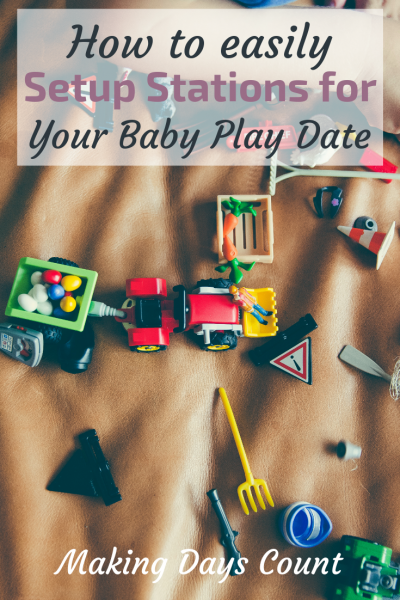 How to setup play stations for a baby play date