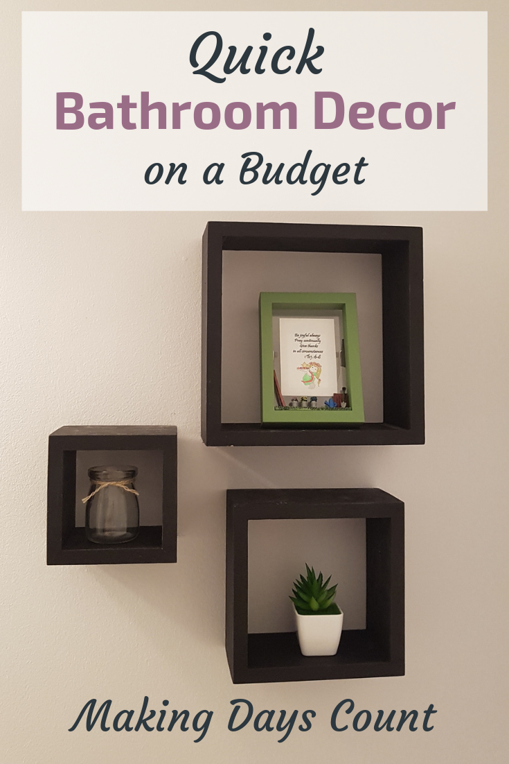 Pin this: Bathroom decor on a budget