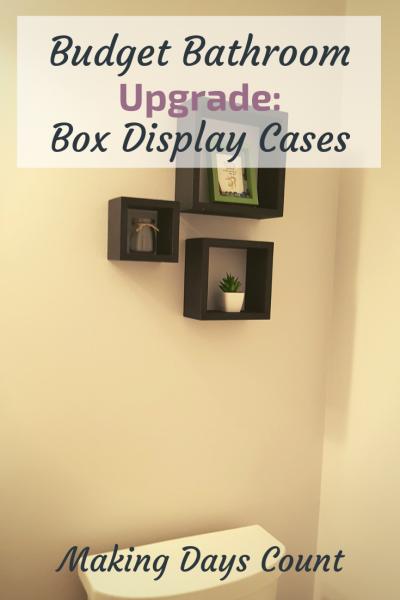Cheap Bathroom Decor: Display Box Shelves