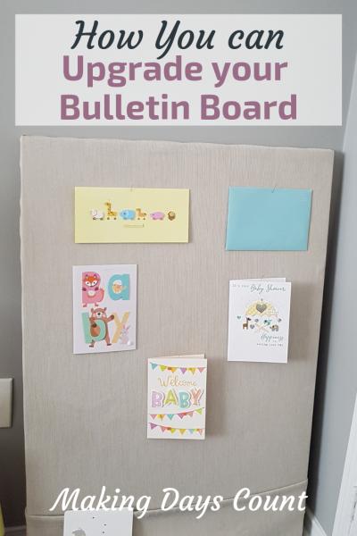 Bulletin Board DIY with Linen