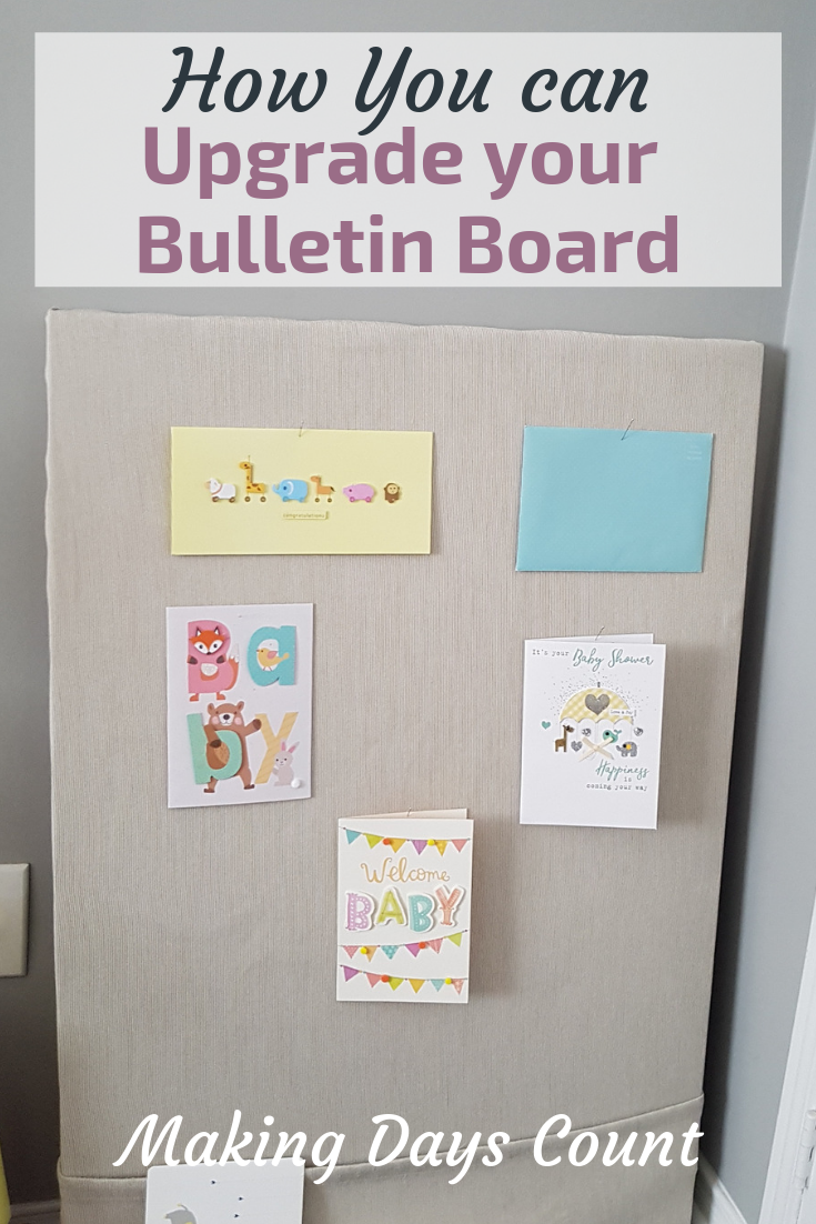 Pin this: Bulletin board diy with linen