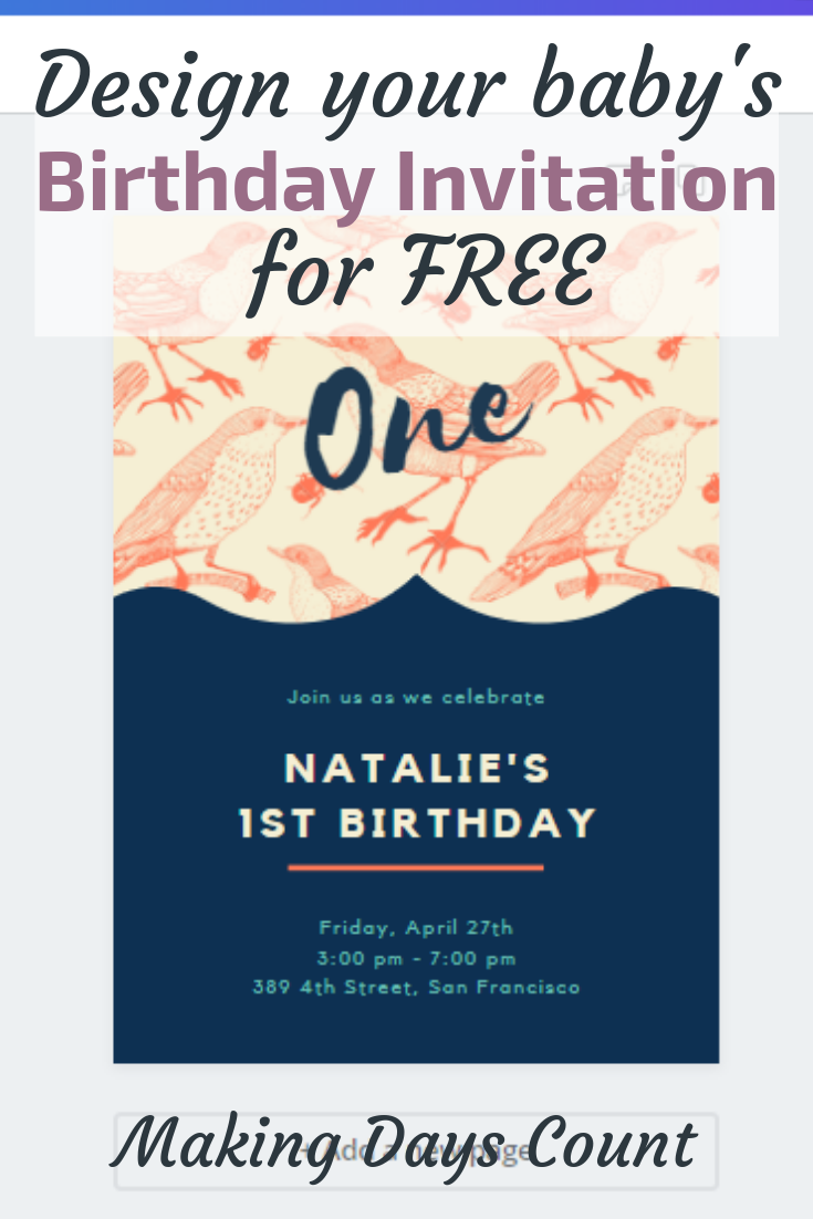 Pin this: Design Birthday Invitation for free