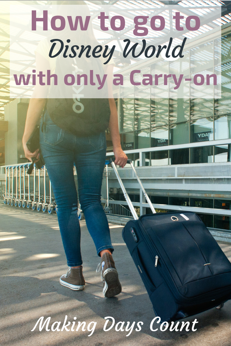 Pin this: Going to Disney World with a carry on. It's totally doable.