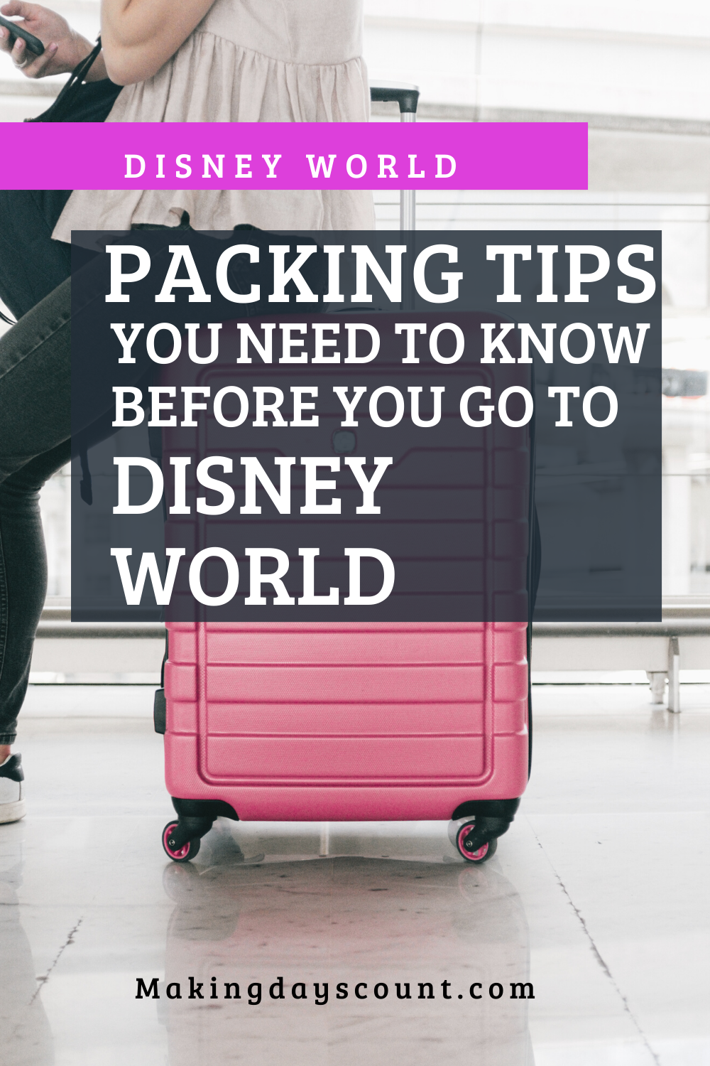 carry on packing to disney
