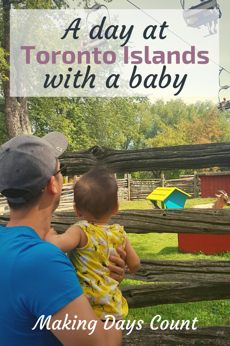 Toronto islands with a baby