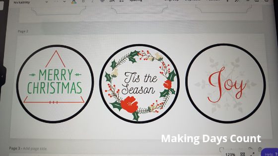 Canva Christmas tags