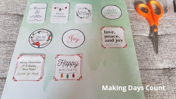 Gluing Gift Tags
