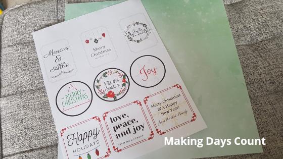 Printing Gift Tags