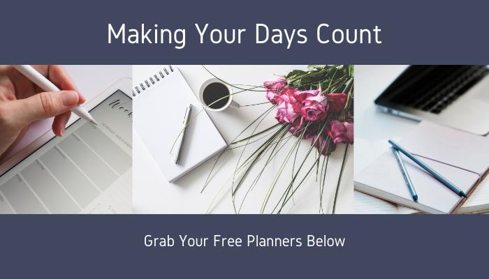 Making Days Count Free Planner Header