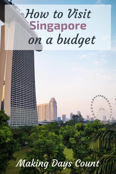 Singapore on a budget pin