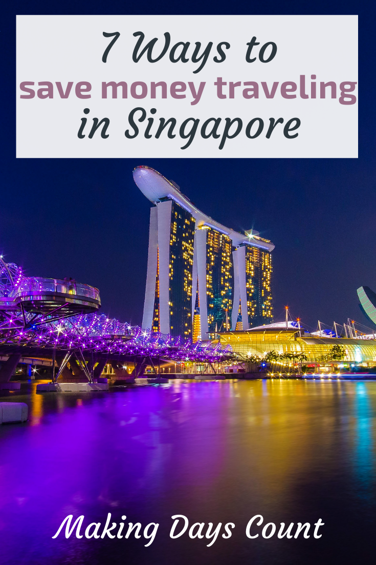 Singapore on a budget pin