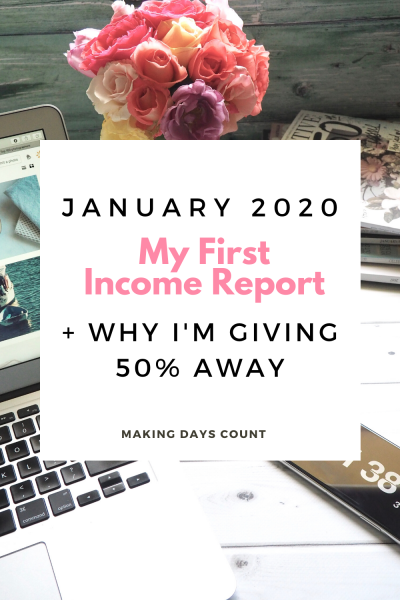 January 2020 Income Report: My First Income Report