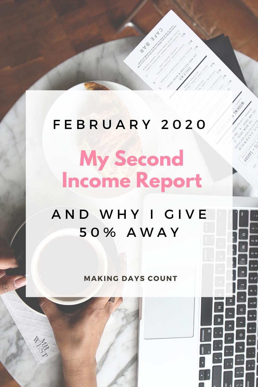 February 2020 income report