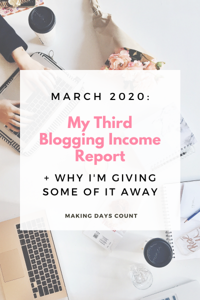 March 2020 Income Report: My Third Income Report