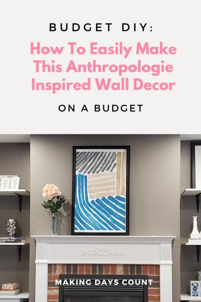 DIY Anthropologie Inspired Living Room Decor