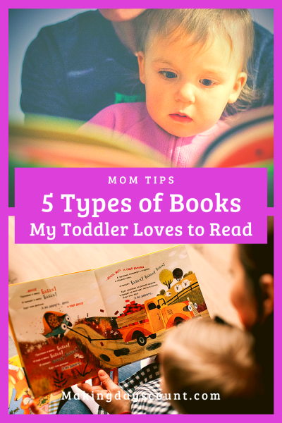 5 Types of Books My 21 Month Toddler Loves