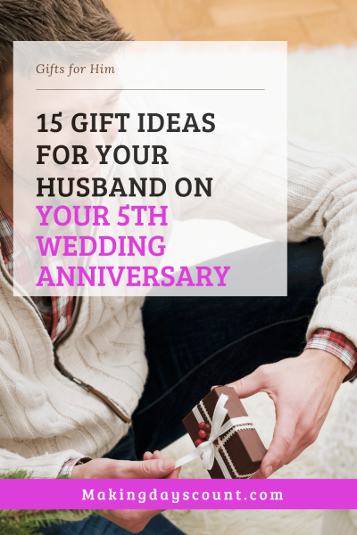5th anniversary gifts for him