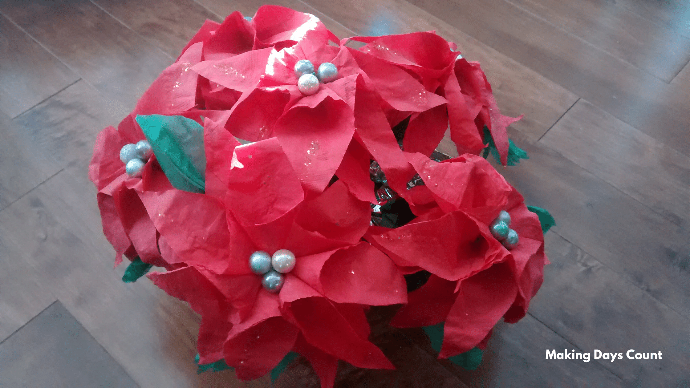 Christmas Decor Poinsettia DIY MDC