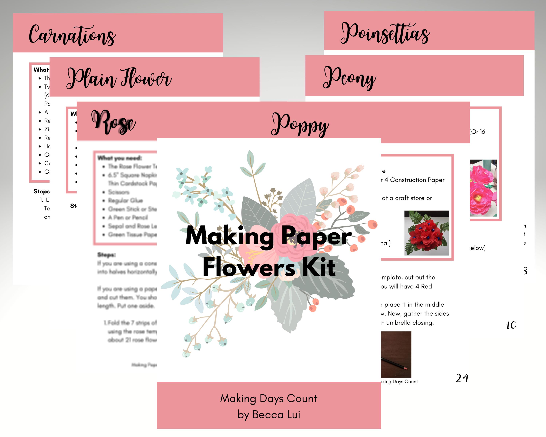 Making Paper Flowers Kit