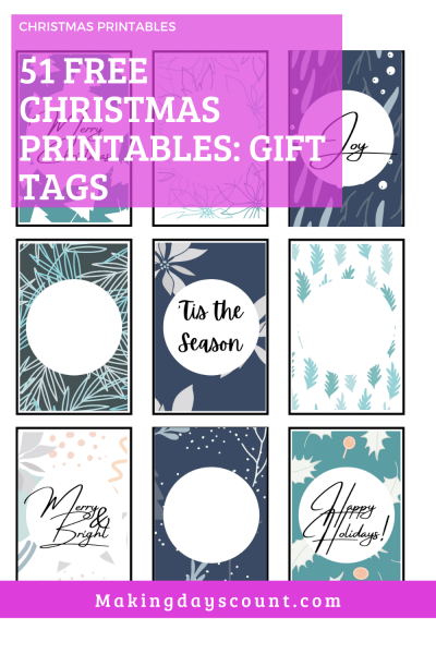 Free Christmas Printables: 51 Gift Tags